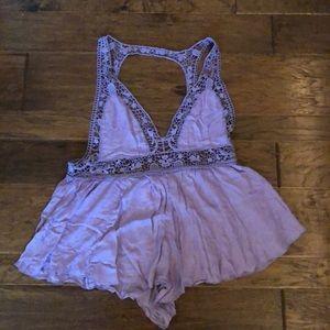 Lavender Lace Free People Romper